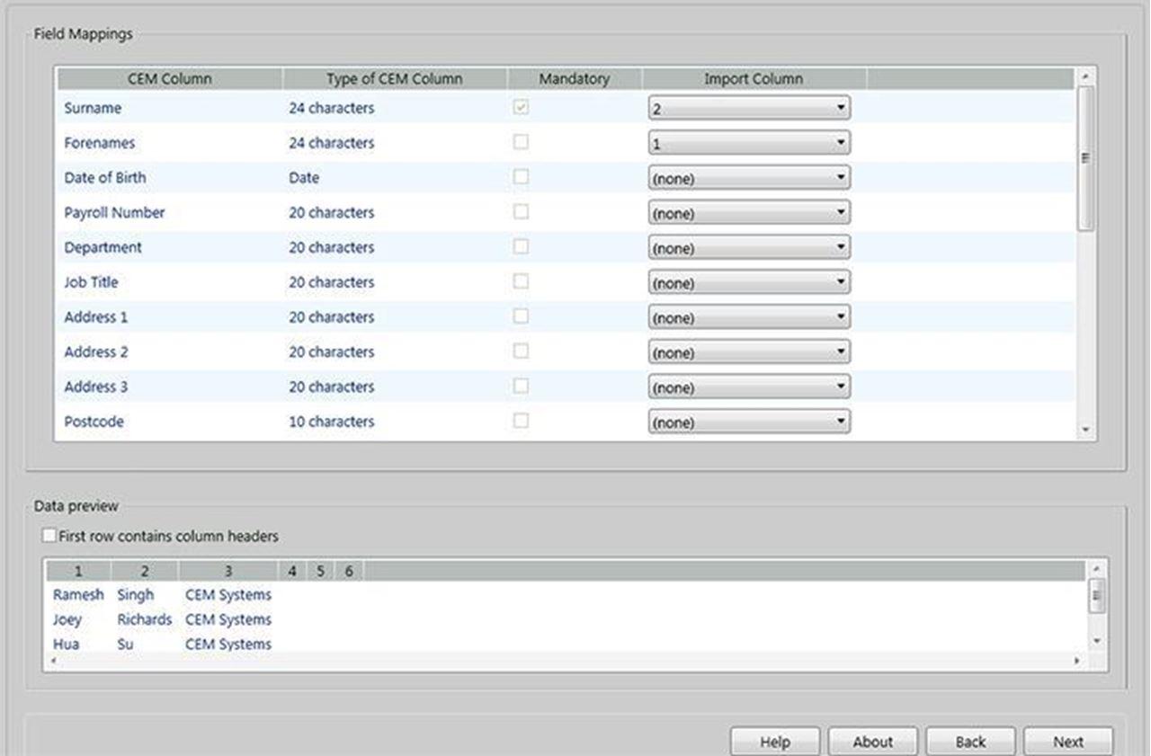 CEM System,AC2000 Data Import Tool  in Armenia at Vantag LLC